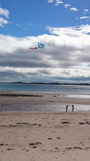 girls-in-distance-on-beach-flying-a-kite