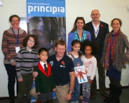 group-of-people-and-children-with-astronaut-tim-peake-and-principia-poster