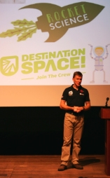 tim-peake-giving-talk at-principia-space-conference-with-rocket-science-logo-behind